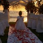 Wedding ceremony @ nearby Playa Bonita