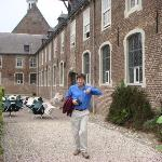  My brother looking happy at Klooster Elsendael