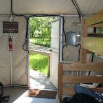 Inside of the yurt (view #2)