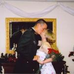 Here is our wedding kiss!