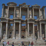 Ephesus: near Selcuk.  Start at the top and walk down and take water.