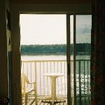 Looking out from room at the Mississippi River