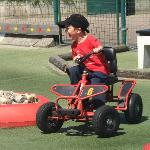 This say's it all! My 5 year old enjoying Kid Karting in Blankenburge, a four wheel bike and...