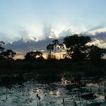 Sunrise in the Okavango (mokoro trip)