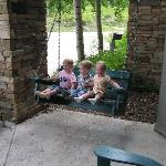 Grandkids on the Lodge swing