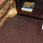 Carpet as you would step out of bed