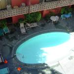 Royal Grove, Pool View from balcony in Cat 1 room