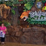 in front of the Rain Forest Cafe in Woodfield