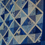 Blue Quilt on display at the Latimer Quilt Center