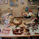 Crafts on display at Latimer Quilt Center