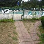 Entrance to outdoor pool