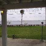  View of the Indian River on a rainy January Day