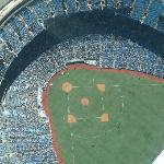  Jays stadium from the cn tower
