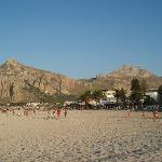 San Vito beach in evening