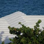 Typical roof in Bermuda to catch rainwater