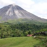 The side of Arenal volcano towards Tabacon