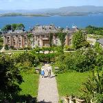 Bantry Bay from attop the steps behind Bantry House