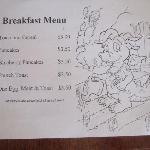Kids breakfast menu