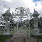 Gates at nearby Chirk Castle.
