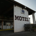 Front of the motel--looks a little dated