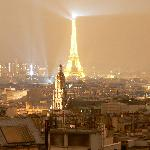 Eiffel Tower from rooftop