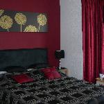The red and black room