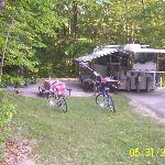 A campsite at Bandy Creek Campground