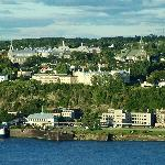 View of Old Lévis near ferry; B&B east of here