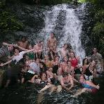 My group of missionaries, bathing in the jungle! Great times in Panama!