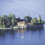 St Paolo island on the Iseo lake