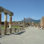 Pompei with Mount Vesuvious