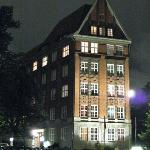Hotel building at night