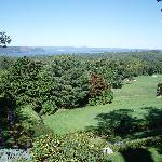 The view over the golf course to the Hudson River