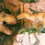  Close up of Outside Dinosaurs at entrance of Jurassic Jungle Boat