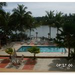 View to the pool & the Guajataca lake