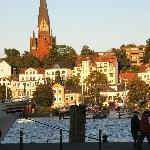 View across Flensburg Harbor