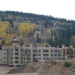 The hotel, you can see the slopes, and the current construction