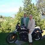 Fred and I with the Harley
