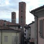 View from hotel room window towards the Piazza Risorgimento