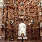 The rather large altar in the Nuestra Senora del Carmen church