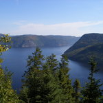 View of Sanguenay Fjord from Cap Trinite
