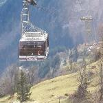  the gondola you ride to the Schilthorn