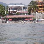 view of hotel from the water