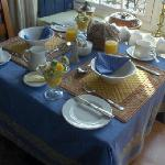 This is the breakfast table - wonderful!!