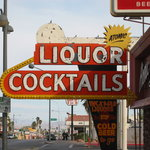 The historic sign at Atomic Liqours