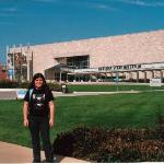 Steph in Front of the Indiana State Museum going to attend the LOTR exhibition