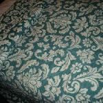 stained bedspreads (doesn't show well in photo)