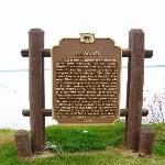 Historical Marker on the Lake