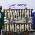 Walleye fishing Pelee Island Erie Quest Charters