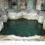 The holy spring of St Winifred, an important center of medieval pilgrimage still venerated today